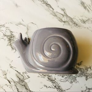 None Accents - Ceramic Snail Planter Purple